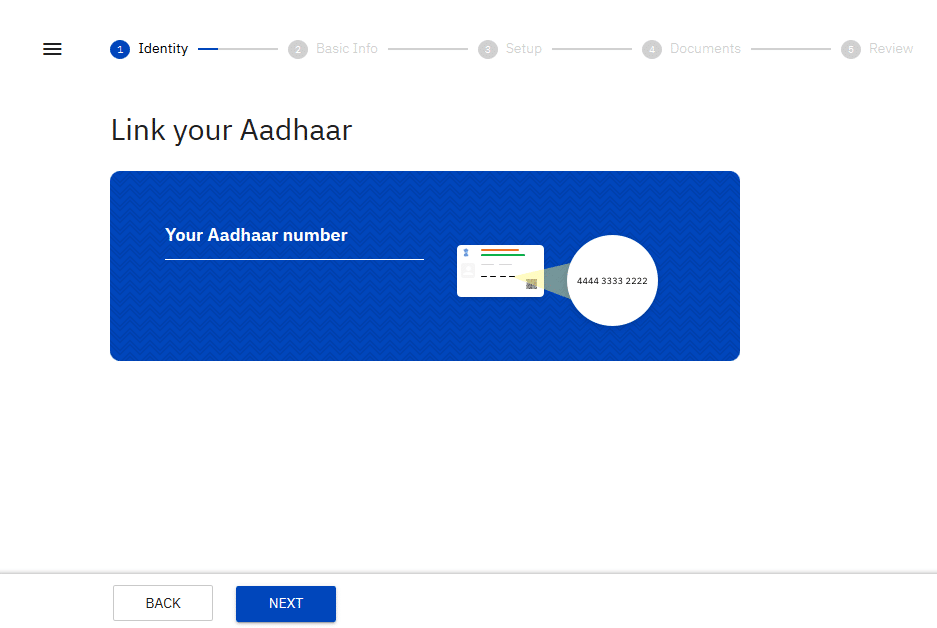 KEYIN AADHAR DETAILS FOR UPSTOX ACCOUNT OPEN