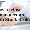Man Signing Demat Account Closure Form